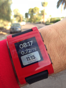 Pebble with RunKeeper